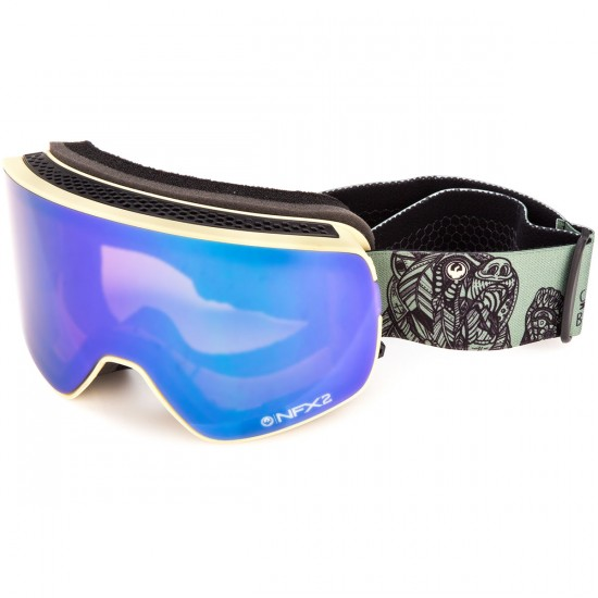Dragon NFX2 Snowboard Goggles - Chris Benchetler Signiture/Green Ion with Pink Ion