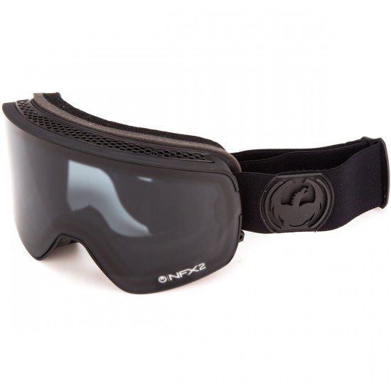 Dragon NFX2 Snowboard Goggles - Knight Rider/Dark Smoke with Yellow Blue Ion and Rose