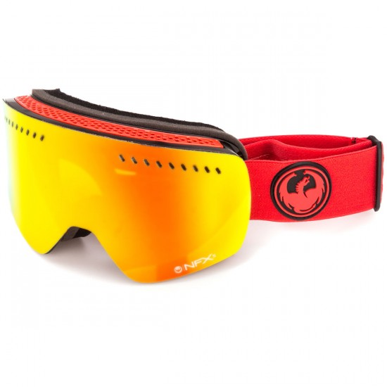 Dragon NFXs Snowboard Goggles - Bitter/Red Ion with Amber