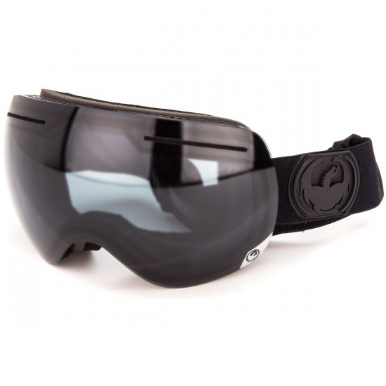 Dragon X1 Snowboard Goggles - Knight Rider/Dark Smoke with Yellow Blue Ion and Rose