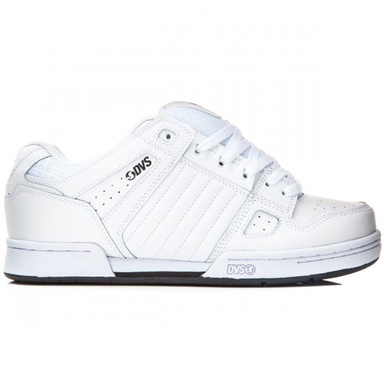 DVS Celsius Shoes - White Leather - 8.0