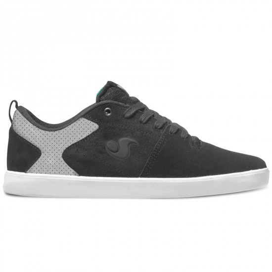 DVS Nica Shoes - Black/Grey Suede - 8.0