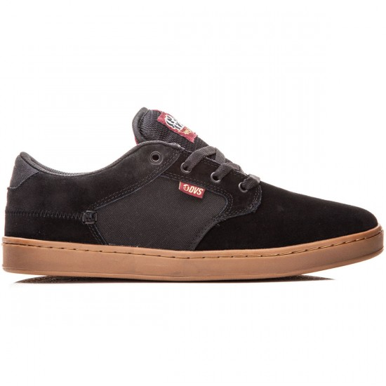 DVS Quentin Shoes - Black/Port/Gum Suede - 8.0