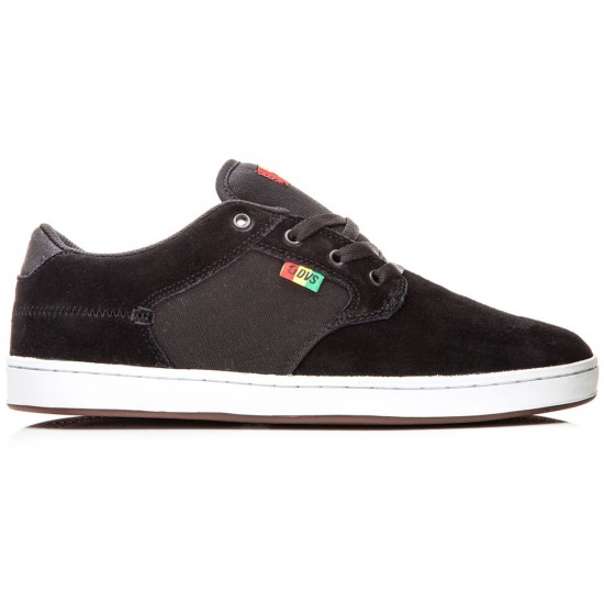 DVS Quentin Shoes - Black/Rasta Suede - 8.0