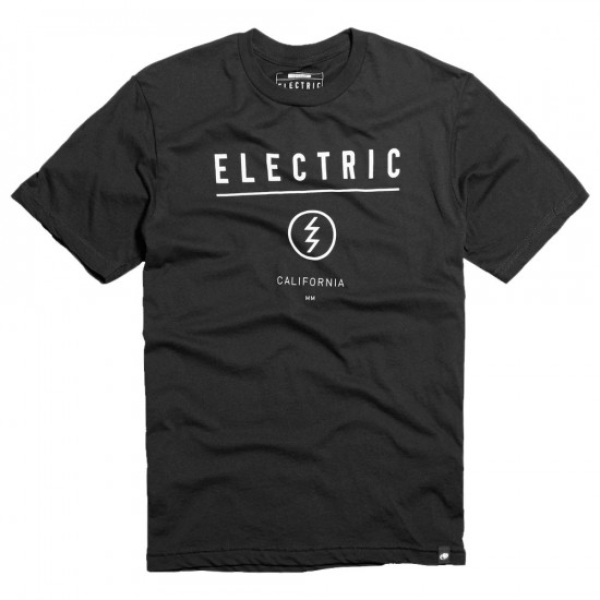 Electric Corporate Identity Custom T-Shirt - Black