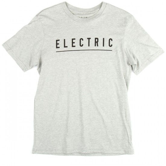 Electric Script T-Shirt - Heather Grey