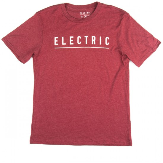 Electric Script T-Shirt - Red Heather
