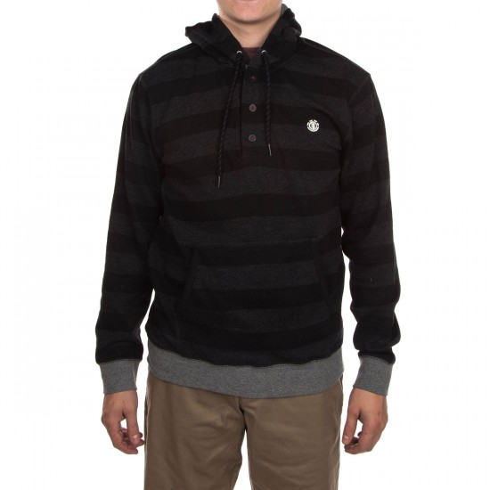 Element Cornell Henley Hoodie - Charcoal Heather