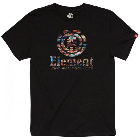 Element Vertical T-Shirt - Black