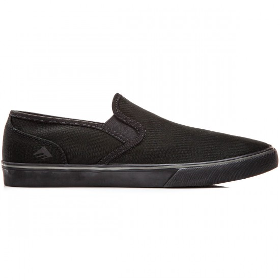 Emerica Provost Cruiser Slip Shoes - Black/Black Canvas - 9.0
