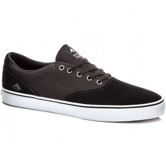 Emerica Provost Slim Vulc Shoes - Black/White - 8.0