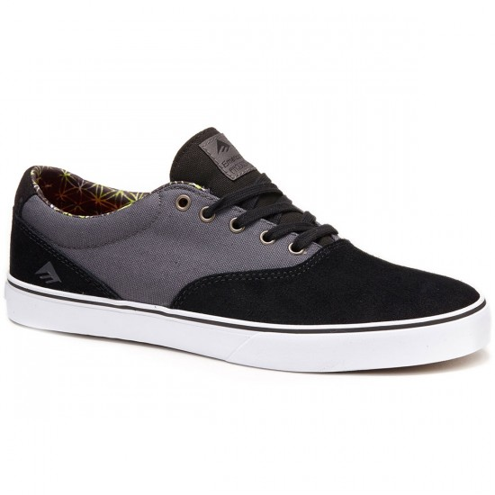 Emerica Provost Slim Vulc Shoes - Black/Grey/White - 8.0