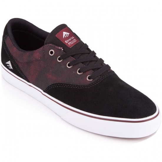 Emerica Provost Slim Vulc Shoes - Black/White/Burgundy - 6.0