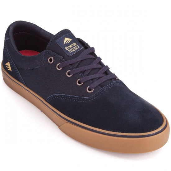 Emerica Provost Slim Vulc Shoes - Navy/Gum - 6.0
