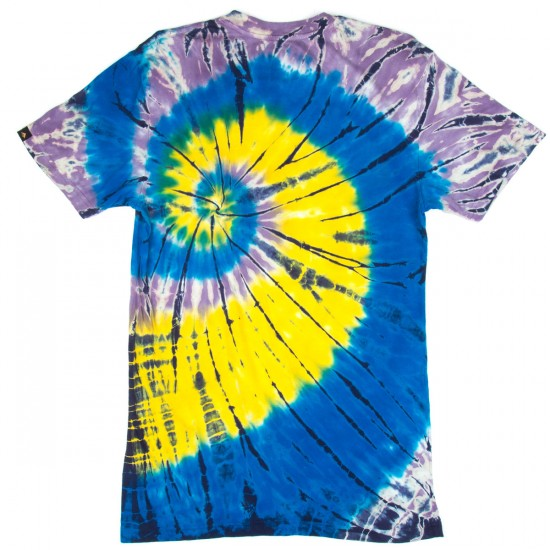 Emerica Pure Sticker Tie Dye T-Shirt - Navy