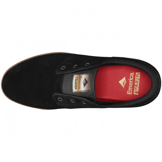 Emerica The Figueroa Shoes - Black/Gum - 10.0
