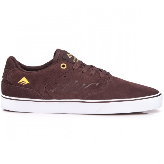 Emerica The Reynolds Low Vulc Shoes - Brown/White - 6.0