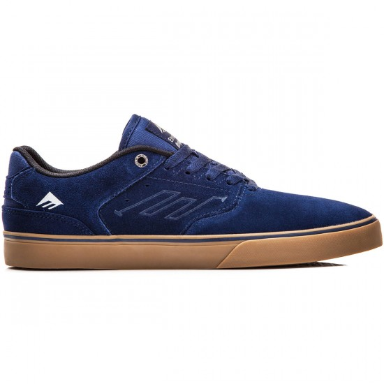 Emerica The Reynolds Low Vulc Shoes - Navy/Grey/Gum - 10.0