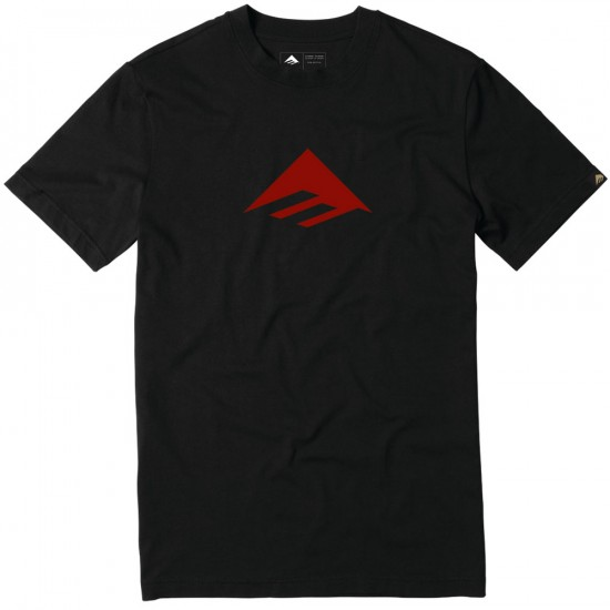 Emerica Triangle 7.1 T-Shirt - Black/Red
