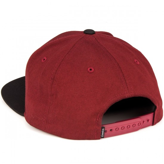 Emerica Triangle Snapback Hat - Red/Black