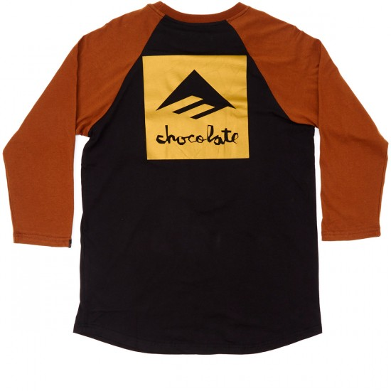 Emerica X Chocolate Raglan T-Shirt - Brown/Black