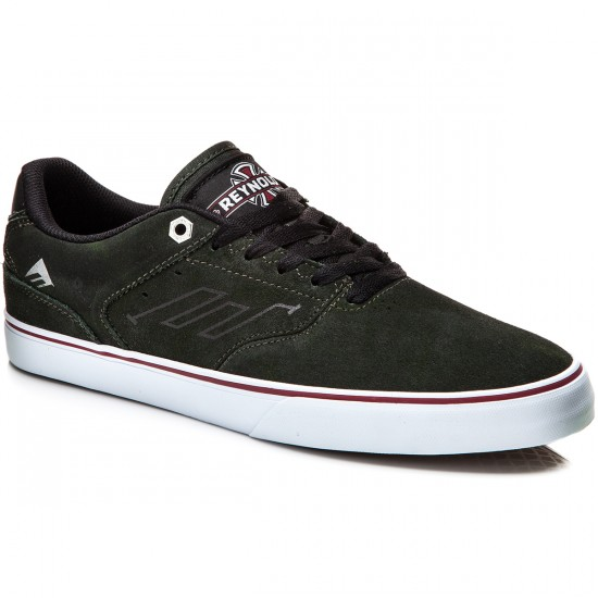 Emerica X Indy The Reynolds Low Vulc Shoes - Dark Green - 10.0