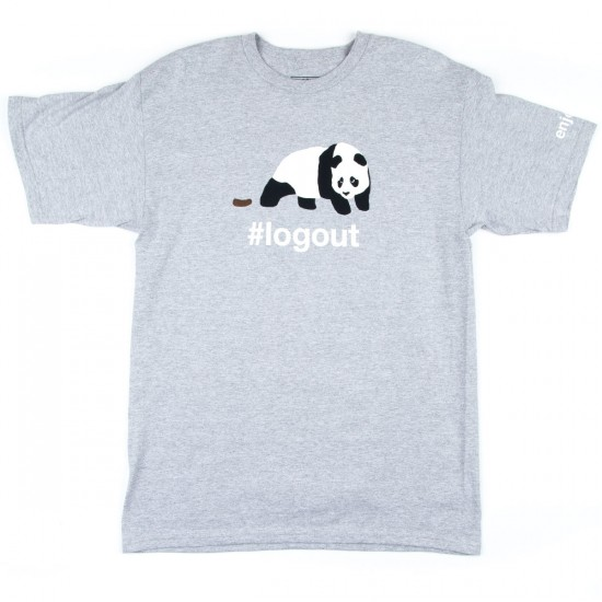 Enjoi Logout Panda T-Shirt - Athletic Heather