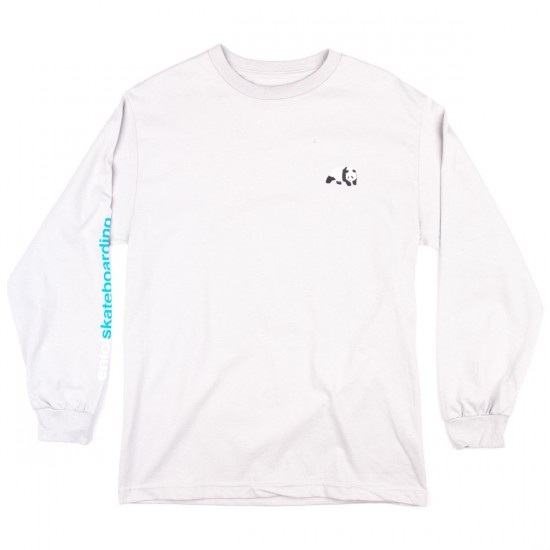 Enjoi Panda Logo Long Sleeve T-Shirt - Silver