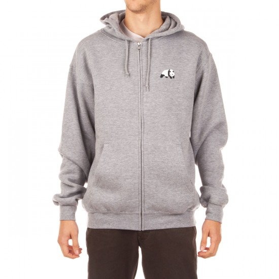 Enjoi Panda LogoZip Hoodie - Heather Grey