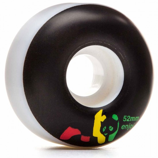 Enjoi Rasta Panda Skateboard Wheels - Black - 52mm