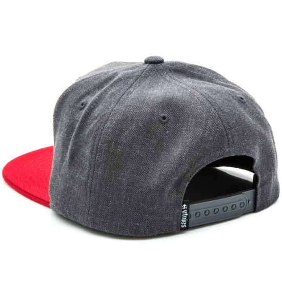 Etnies Rook Snapback Hat - Grey/Red