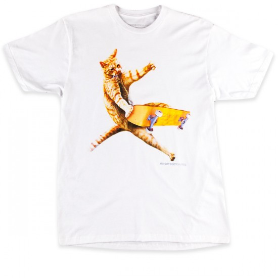 Everybody Skates Cat T-Shirt - White