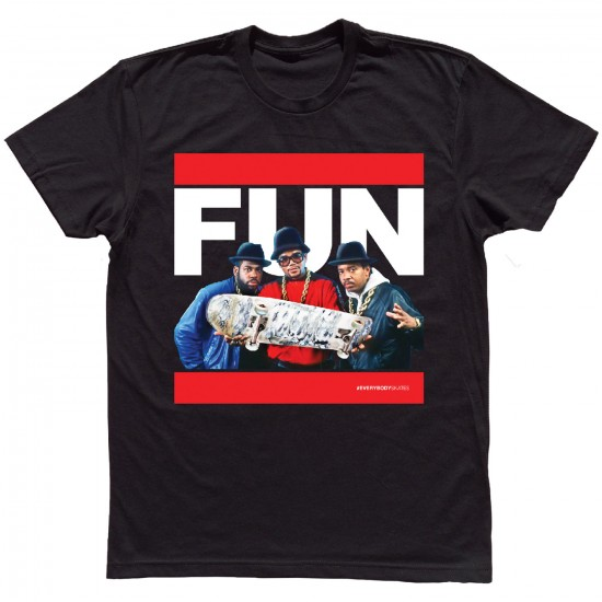 Everybody Skates FUN T-Shirt - Black