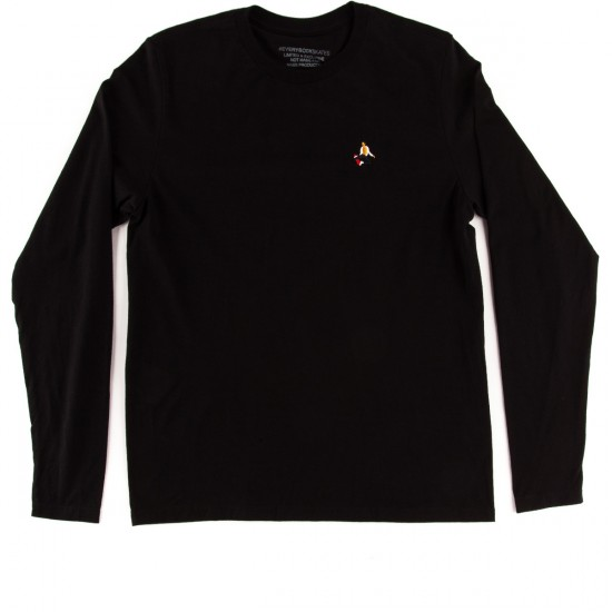 Everybody Skates Method Embroidered Long Sleeve T-Shirt - Black