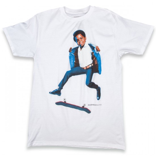 Everybody Skates Tre Flip T-Shirt - White