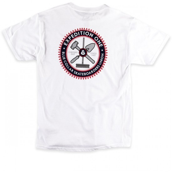 Expedition Blue Collar T-Shirt - White