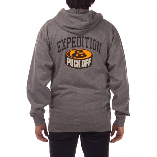 Expedition Puck Off Zip Hoodie - Grey Heather