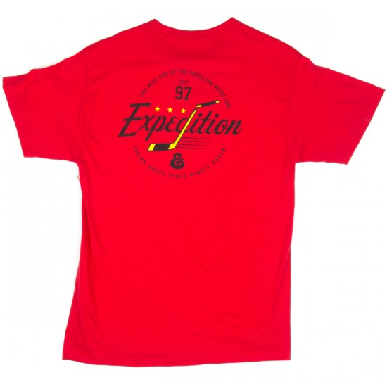 Expedition Stick Script T-Shirt - Red