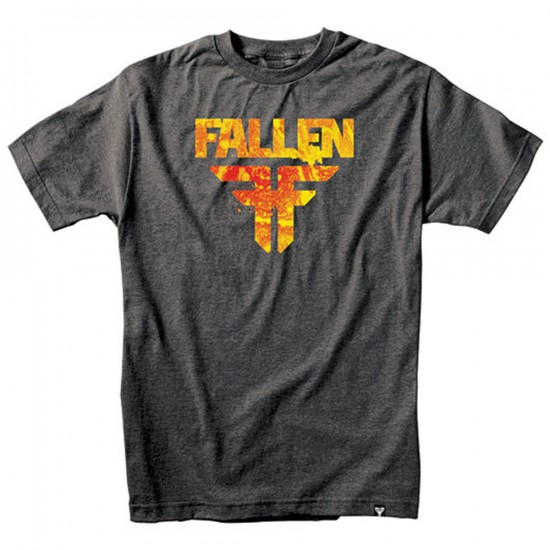 Fallen Acetone T-Shirt - Heather Charcoal