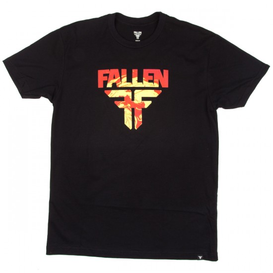 Fallen Insignia T-Shirt - Black/Red Marble