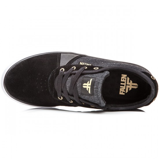 Fallen Strike Shoes - Black/Denim/Gold - 10.0