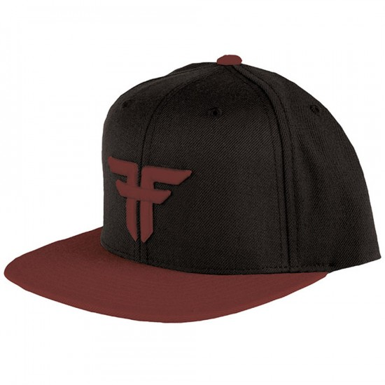 Fallen Trademark Starter Hat - Black/Oxblood
