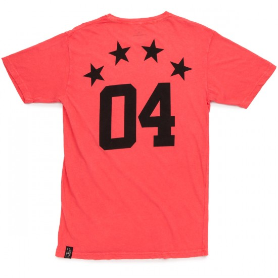 Fourstar Athletic Mineral T-Shirt - Red