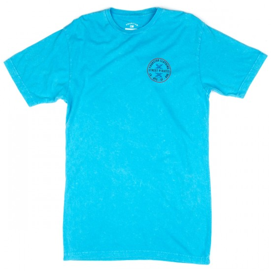 Fourstar Circle Patch Overdye T-Shirt - Cyan