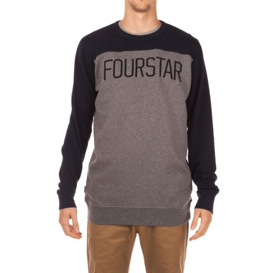 Fourstar Football Crew Sweatshirt - Midnight