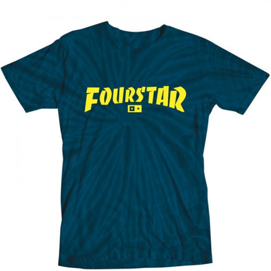 Fourstar Highspeed Tie-dye T-Shirt - Navy