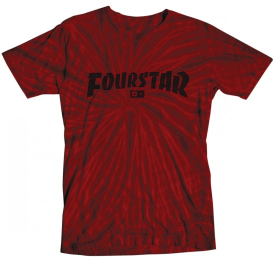 Fourstar Highspeed Tie-dye T-Shirt - Red