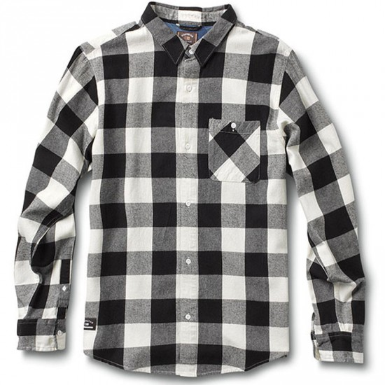 Fourstar Ishod Buffalo Long Sleeve Shirt - Ecru