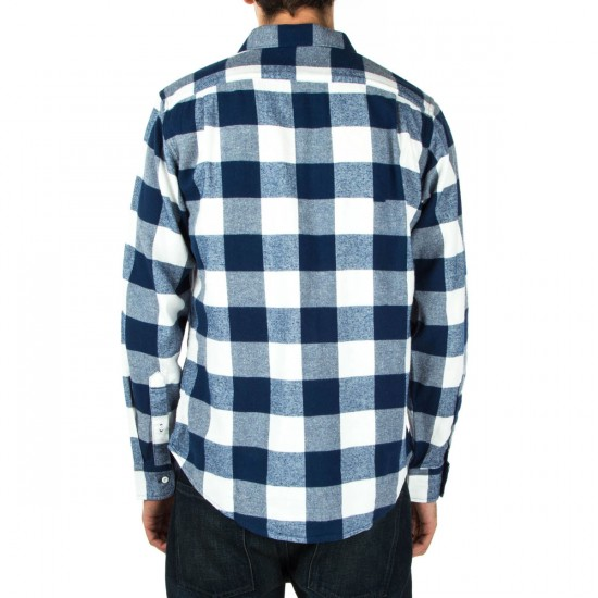 Fourstar Ishod Buffalo Long Sleeve Shirt - Navy