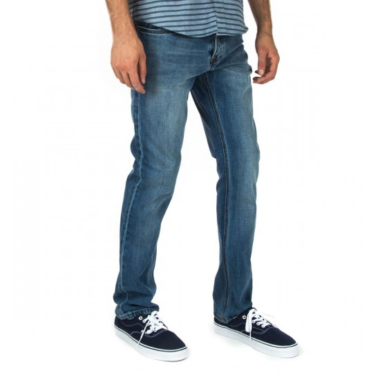 Fourstar Ishod Denim Standard Pants - Faded Indigo - 28 - 32